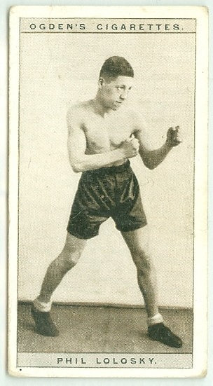 1928 OGDEN'S Phil Lolosky BOXING TOBACCO CARD #24