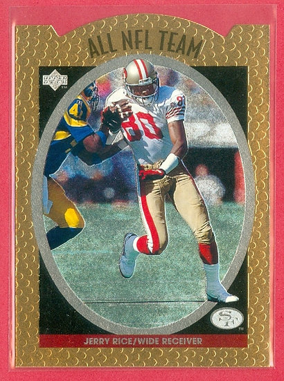 """Jerry Rice"" HOF ALL NFL TEAM FOIL CHASE CARD #AN3"
