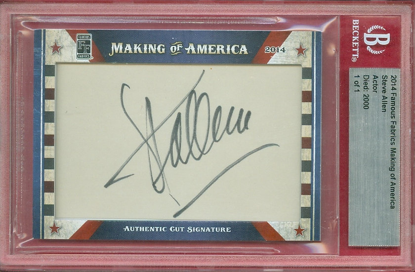 """Steve Allen"" SSP CUT SIGNATURE CARD #'ed 1 of 1"