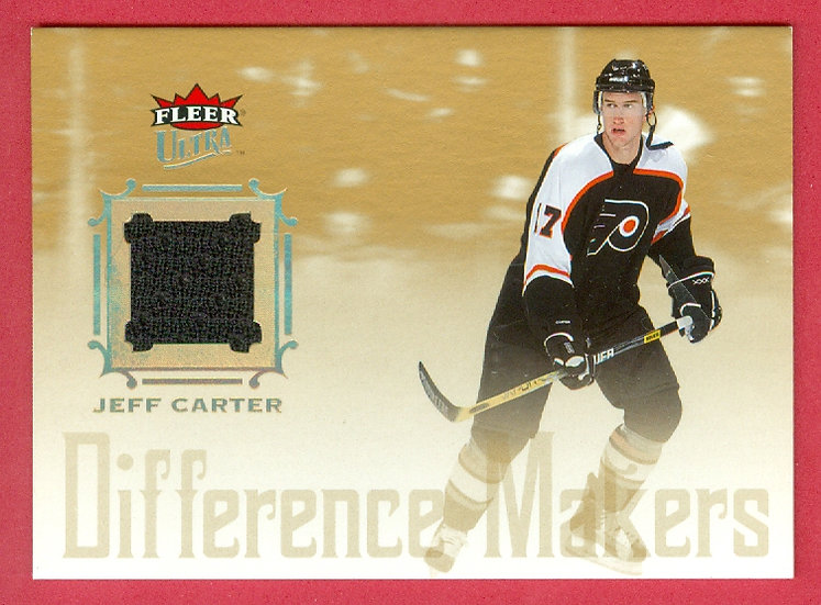 """""""Jeff Carter"""" FLEER ULTRA RC JERSEY CARD #DMJ-JC"""