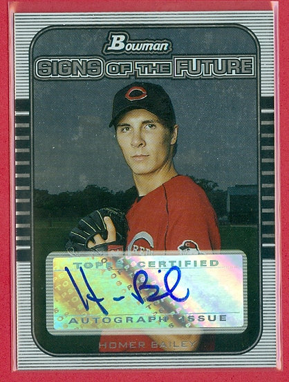 """Homer Bailey"" BOWMAN SP RC AUTOGRAPH CHASE CARD"