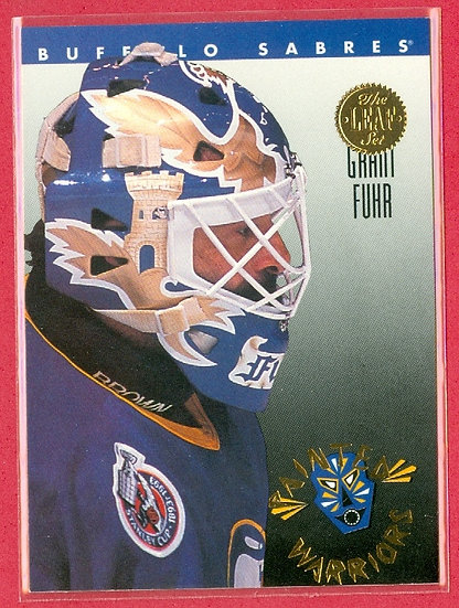 """""""Grant Fuhr"""" LEAF PAINTED WARRIORS CHASE CARD #2"""
