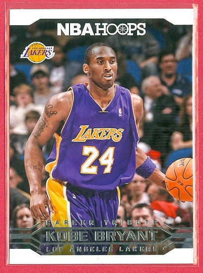 """Kobe Bryant"" NBA HOOPS ""CAREER TRIBUTE"" CARD #298"