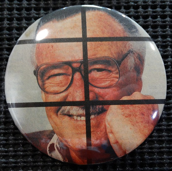 "LEGENDARY ICON ""STAN LEE"" POP CULTURE 3"" PINBACK/PIN-BACK BUTTON"