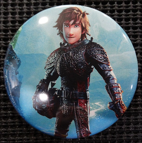 """HICCUP from HTTYD"" POP CULTURE 3"" PIN-BACK COLLECTOR COMIC BUTTON"