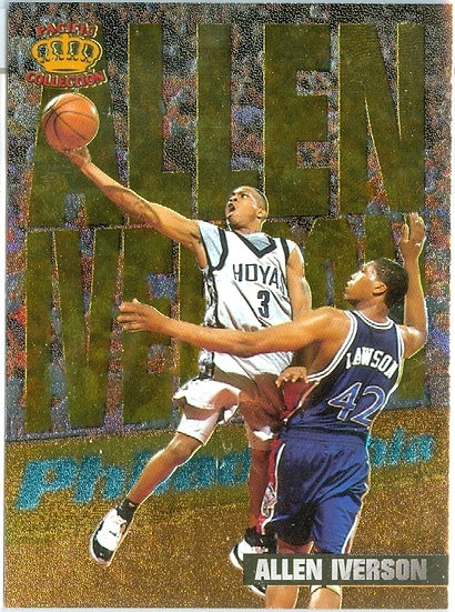 1996 Allen Iverson IN THE PAINT RC CARD #IP-8