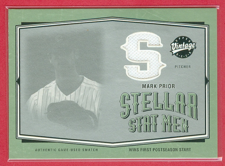 Mark Prior SP GAME-USED JERSEY RELIC CARD #SSM-18