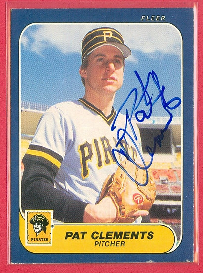 Pat Clements IN PERSON/THROUGH THE MAIL AUTO CARD