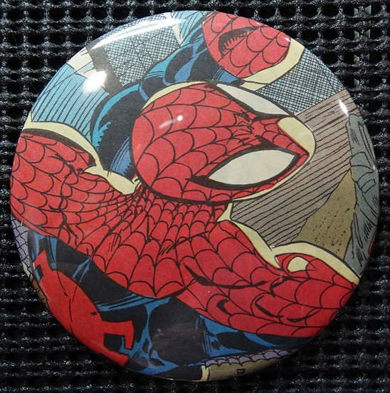 """SPIDER-MAN"" POP CULTURE 3"" PINBACK/PIN-BACK COMIC BUTTON"