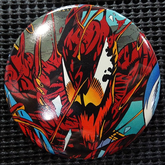 """CARNAGE/SPIDER-MAN"" POP CULTURE 3"" PINBACK/PIN-BACK COMIC BUTTON"