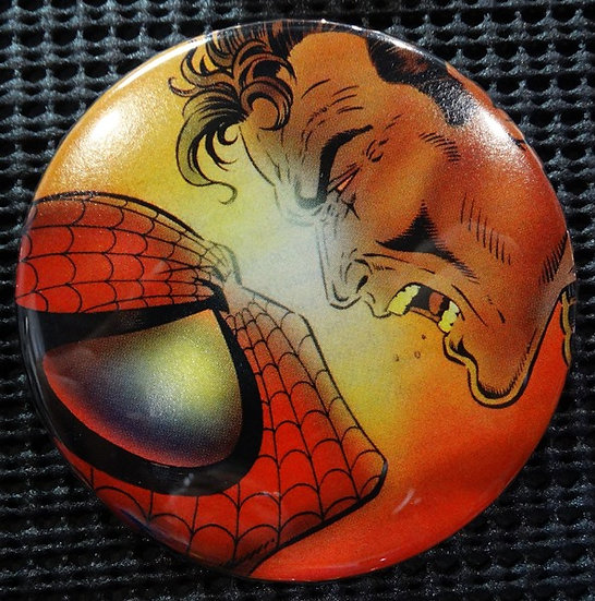 """SPIDER-MAN/PETER PARKER"" POP CULTURE 3"" PINBACK/PIN-BACK COMIC BUTTON"