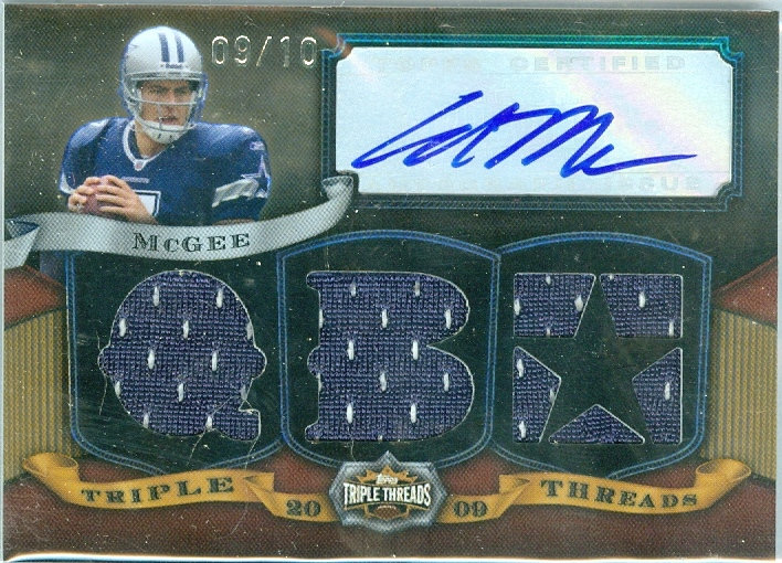 """""""Stephen McGee"""" SP RC AUTO/JERSEY CARD #d 09/10"""