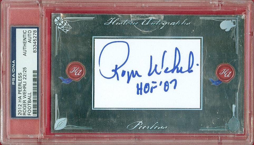 """Roger Wehrli"" HOF SSP CUT SIGNATURE CARD #d 22/25"