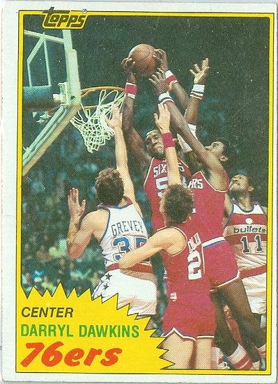 "VINTAGE 1981-82 TOPPS ""Darryl Dawkins"" CARD #29"