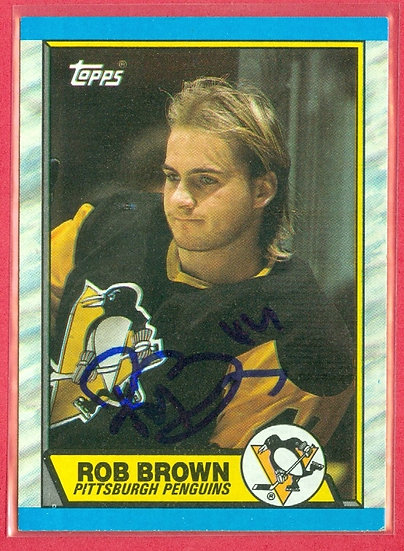 """""""Rob Brown"""" IN PERSON/THROUGH THE MAIL AUTO"""
