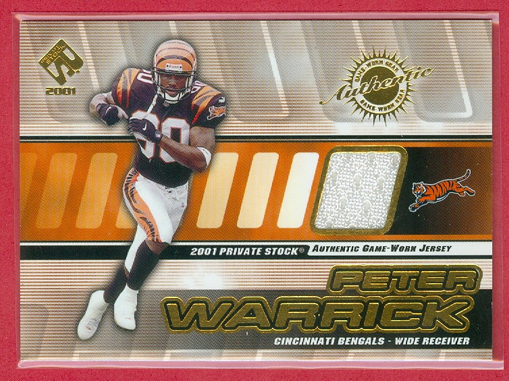 """Peter Warrick"" SP GAME-USED JERSEY CHASE CARD"
