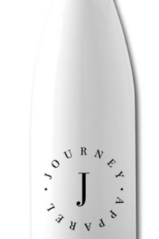 White and Silver Water Bottle - Circle Logo