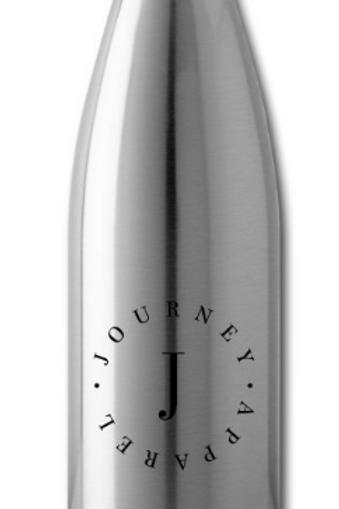 Silver Water Bottle - Circle Logo