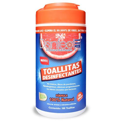 Toallitas Desinfectantes DisinfectALL C-100