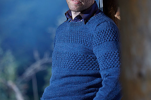Herre sweater med sømandsbobler