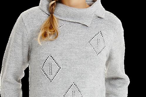 Sweater med rudemønster