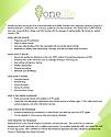 OneLife Fact Sheet