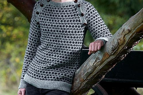 Herresweater med raglan