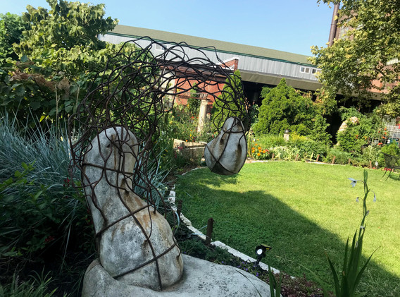 Sculpture and Yard