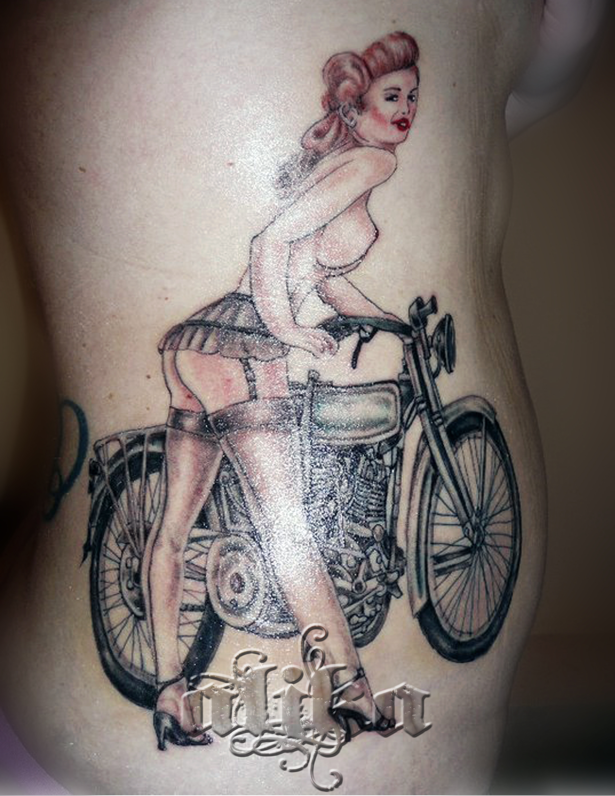 Biker pinup