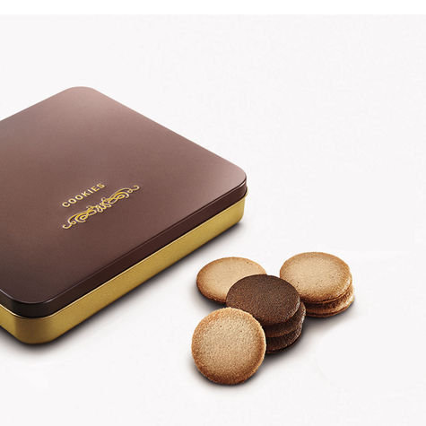 Godiva Assorted Sandwich Cookie Gift Tin