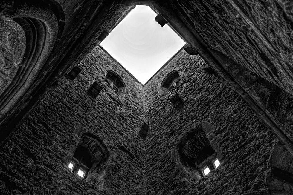 Inside St. Michael's Tower, Glastonbury Tor