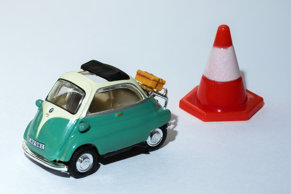 Model Car and Traffic Cone