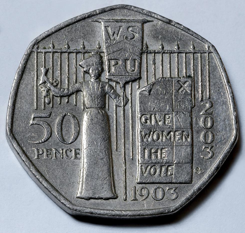 Suffragettes 50p