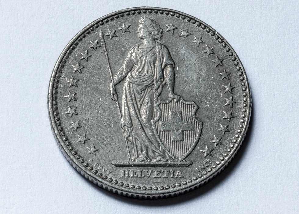 Switzerland 2 Franken 1993