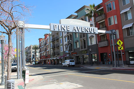 Pine Ave Long Beach - Day View - DN Sign