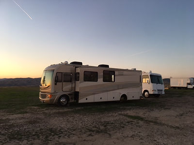 Production Motorhome Rental WheelhouseLA Mystery Mesa in Saugus, Santa Clarita, California. Studio Rental California