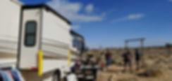 Production Motorhome Rental Los Angeles, Southern California. Photo in Yucca Valley, CA. WheelhouseLA Studios. Fun Day On-Set.