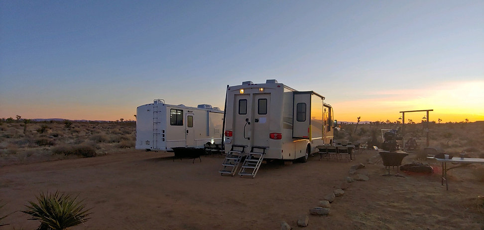 Production Motorhome Rental Los Angeles, Southern California. Photo in Yucca Valley, CA. WheelhouseLA Studios.