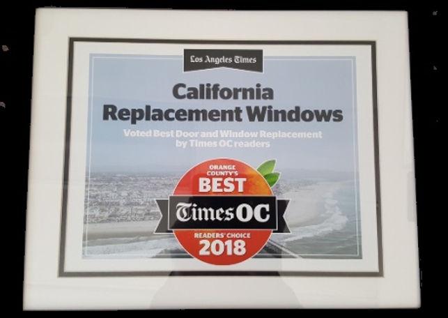 Best of OC Award Orange County Reades' Choice 2018