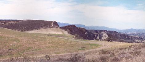 Ridge and Skyline.Production Motorhome Rental WheelhouseLA Mystery Mesa in Saugus, Santa Clarita, California. Studio Rental Los Angeles.