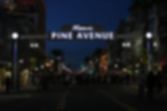 Pine Ave Long Beach - Night View - DN Si
