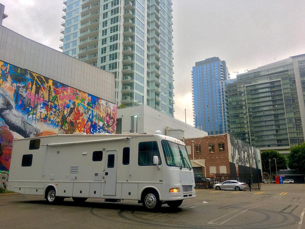 WH1 Downtown Los Angeles WheelhouseLA Production Motorhome Rentals