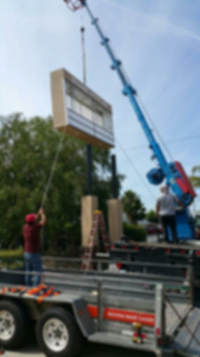 Belshire Monument Sign - Installation -