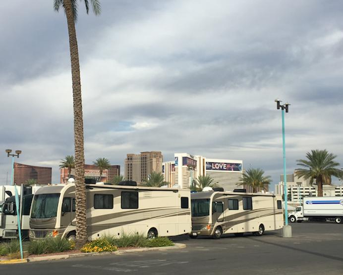 Wheelhouse in Las Vegas in front of Hote
