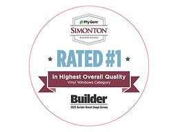 Simonton Voted No 1 - Builder Survey 202