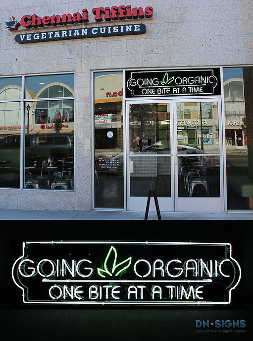 Going Organic - Custom Neon Sign - DNSig