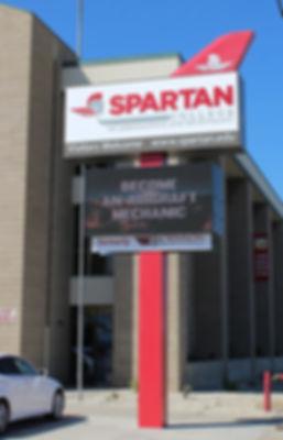 Spartan College Pole Sign.jpg