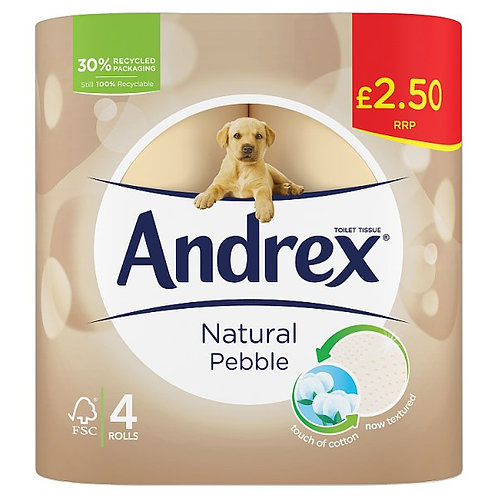 Andrex Natural Pebble Toilet Paper