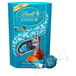 Lindt Lindor Salted Caramel Carton 200gr