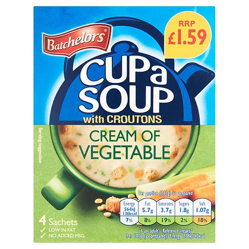 Batchelor Cup A Soup Cream Of Vegetable